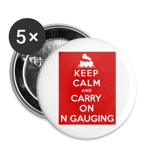 Keep Calm And Carry On N Gauging - Buttons large 2.2''/56 mm(5-pack)