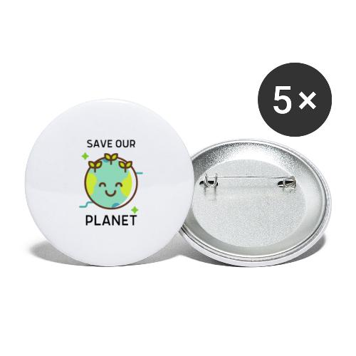 Save our planet LIGHT - Buttons large 2.2''/56 mm (5-pack)