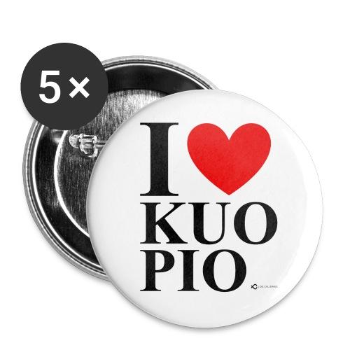 I LOVE KUOPIO ORIGINAL (musta) - Rintamerkit isot 56 mm (5kpl pakkauksessa)