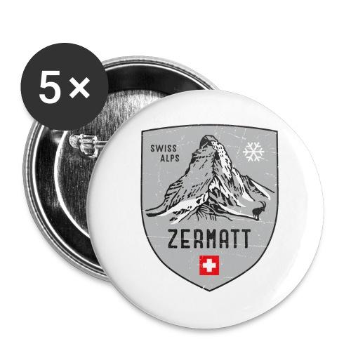 Zermatt Schweiz Wappen - Buttons large 2.2''/56 mm(5-pack)