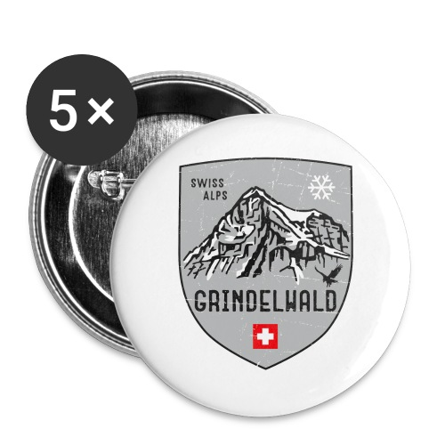 Grindelwald Switzerland coat of arms - Buttons large 2.2''/56 mm(5-pack)