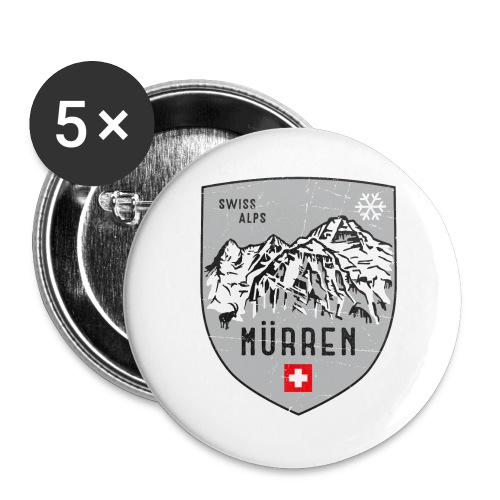 Murren Switzerland coat of arms - Buttons large 2.2''/56 mm(5-pack)