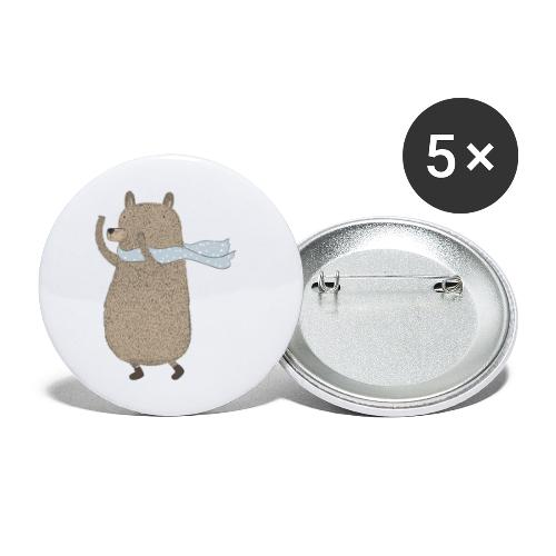 Fluffy Cuddle Bear by #OneCreativeArts - Buttons groß 56 mm (5er Pack)