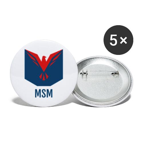 MSM ORIGINAL - Buttons/Badges stor, 56 mm (5-pack)