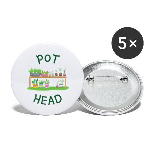 Pot head - Morsom gave til hageinteressert - Stor pin 56 mm (5-er pakke)