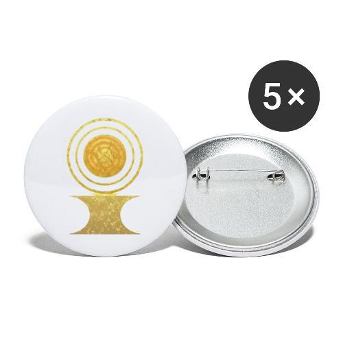 Native America Indianer Symbol Hopi ssl Sonne - Buttons groß 56 mm (5er Pack)