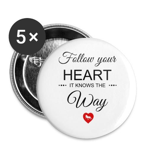 follow your heartbesser - Buttons groß 56 mm (5er Pack)