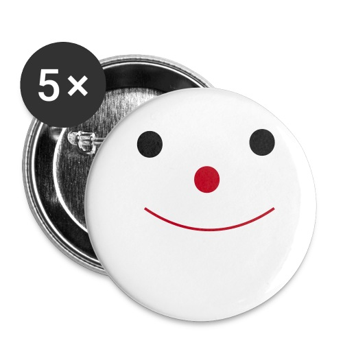 Happy Smileday smiley face - Buttons large 2.2''/56 mm (5-pack)