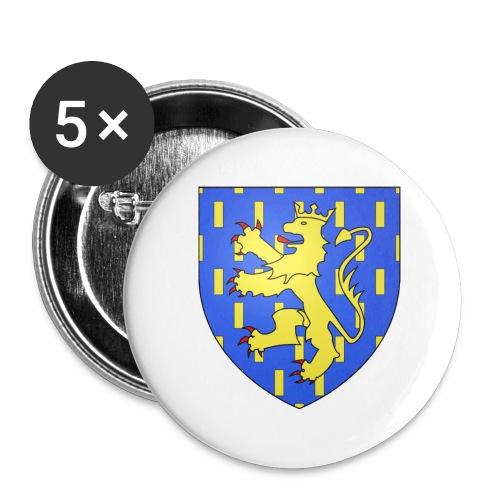 Blason de la Franche-Comté avec fond transparent - Lot de 5 grands badges (56 mm)