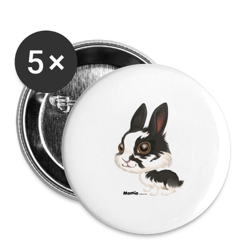 Hase - Buttons groß 56 mm (5er Pack)