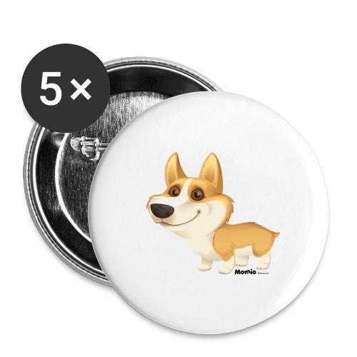Corgi - Buttons groß 56 mm (5er Pack)