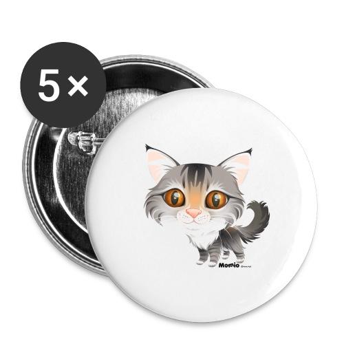 Katze - Buttons groß 56 mm (5er Pack)