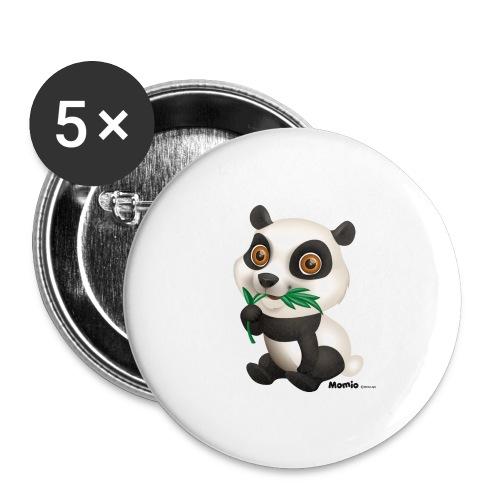 Panda - Buttons groß 56 mm (5er Pack)
