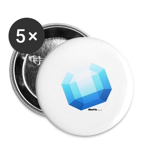 Saphir - Buttons groß 56 mm (5er Pack)