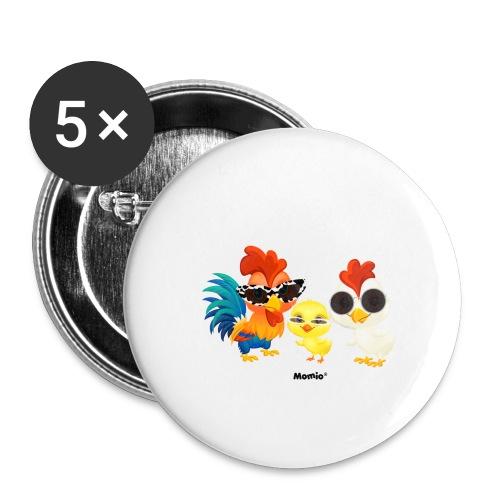 Huhn - von Momio Designer Emeraldo. - Buttons groß 56 mm (5er Pack)