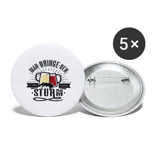Man bringe den Sturm Jungwein Geschenk Herbst Wein - Buttons groß 56 mm (5er Pack)