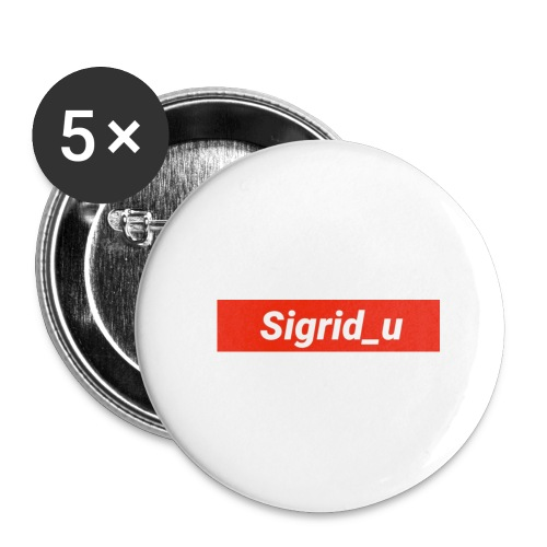 Sigrid_uBoxLogo - Stor pin 56 mm (5-er pakke)