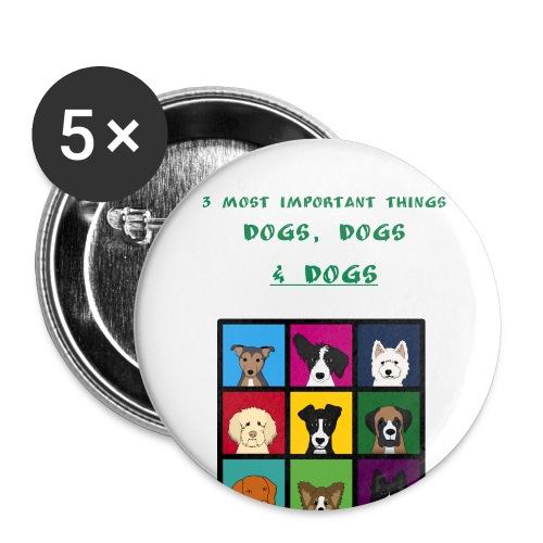 3 most important things - - Rintamerkit isot 56 mm (5kpl pakkauksessa)