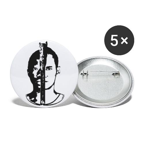 Frères - Black & white  - Lot de 5 grands badges (56 mm)