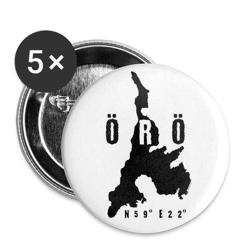 ÖRÖ ISLAND, FINLAND T-SHIRTS, HOODIES + 150 GIFTS - Rintamerkit isot 56 mm (5kpl pakkauksessa)