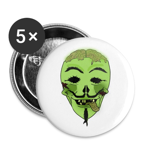 Guy Fakes - Buttons large 2.2''/56 mm(5-pack)