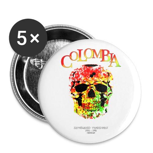 Farbentot - Buttons groß 56 mm (5er Pack)