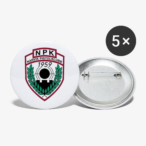Narvik Pistolklubb - Stor pin 56 mm (5-er pakke)