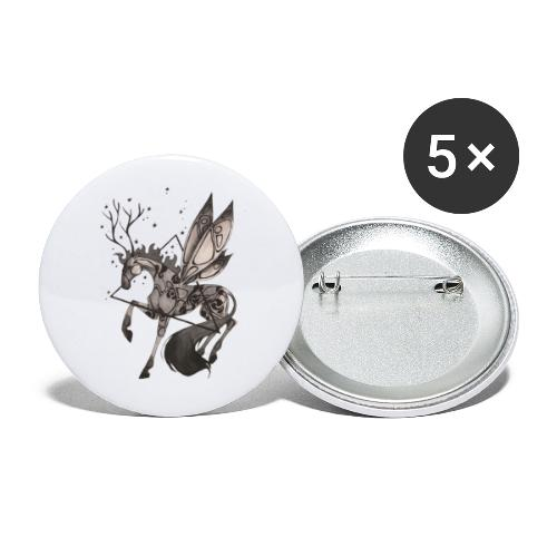 Dragonfly Horse - Ink Collection - Paquete de 5 chapas grandes (56 mm)