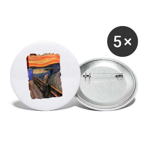 Screaming Tardis - Buttons large 2.2''/56 mm(5-pack)