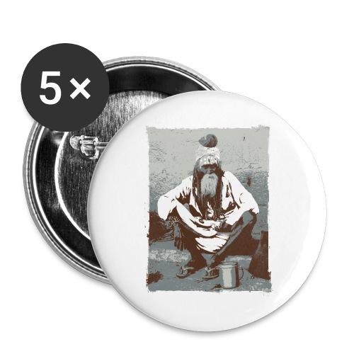 Indian holy man - Sadhu or Sādhu - Buttons large 2.2''/56 mm(5-pack)