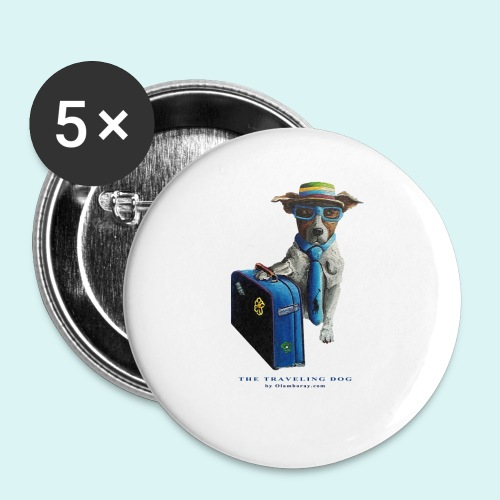 The Traveling Dog - Buttons large 2.2''/56 mm(5-pack)