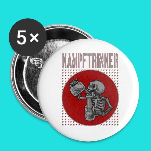 Kampftrinker - Buttons groß 56 mm (5er Pack)