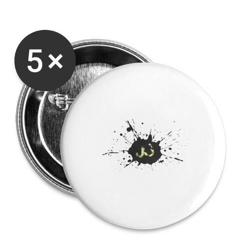 JU spray logo - Rintamerkit isot 56 mm (5kpl pakkauksessa)