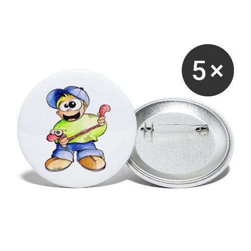 Elastizitätstest - Buttons groß 56 mm (5er Pack)