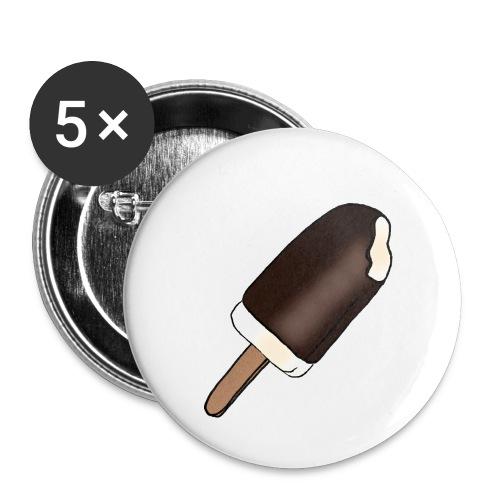 Eis am Stiel mit Schokoladenüberzug - Buttons groß 56 mm (5er Pack)