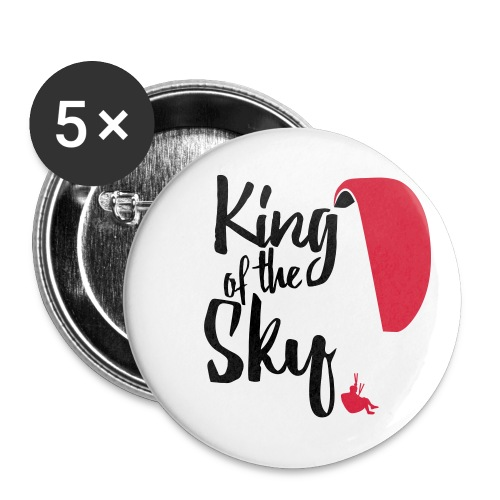 King of the Sky - Buttons groß 56 mm (5er Pack)