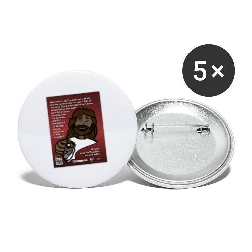 Jesus vertrauen - warum ? - Buttons groß 56 mm (5er Pack)