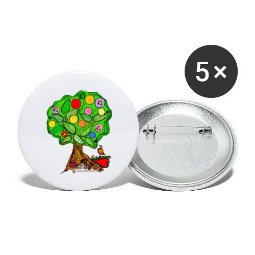 LebensBaum - Buttons groß 56 mm (5er Pack)