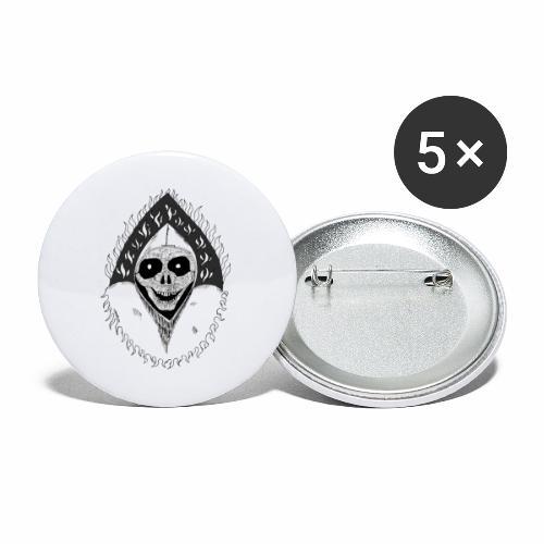 Grimp reaper blank text black & white - Lot de 5 grands badges (56 mm)