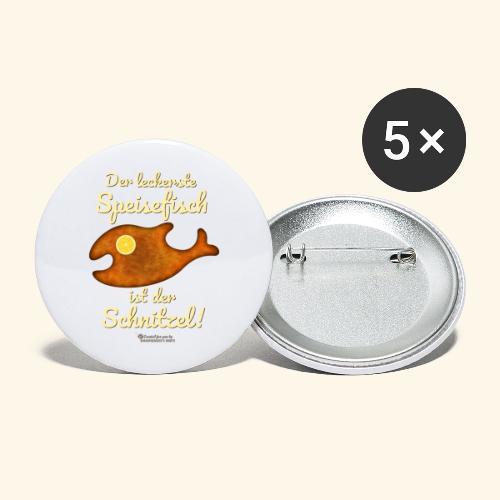 Geek Design Spruch Der leckerste Speisefisch - Buttons groß 56 mm (5er Pack)