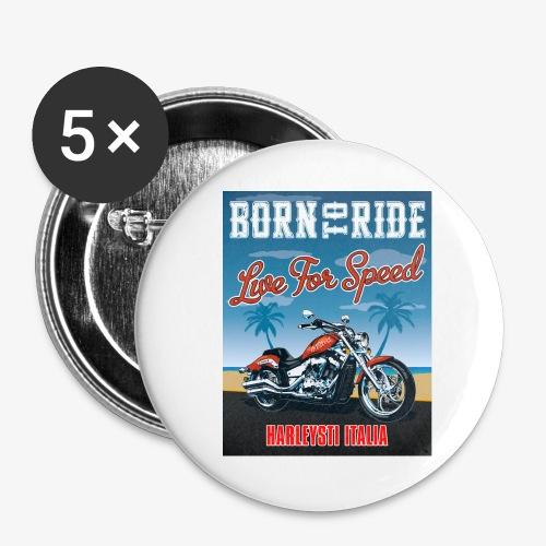 Summer 2021 - Born to ride - Confezione da 5 spille grandi (56 mm)