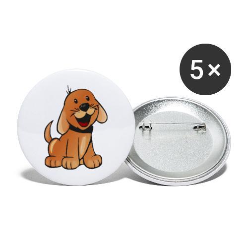 cartoon dog - Confezione da 5 spille grandi (56 mm)