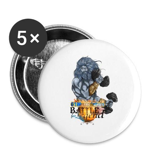 Ayuntar - Battle for Legend X 01Musculation - Lot de 5 grands badges (56 mm)