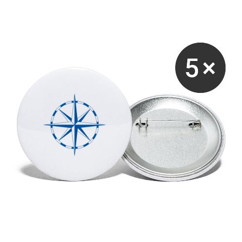 Windrose - Buttons groß 56 mm (5er Pack)