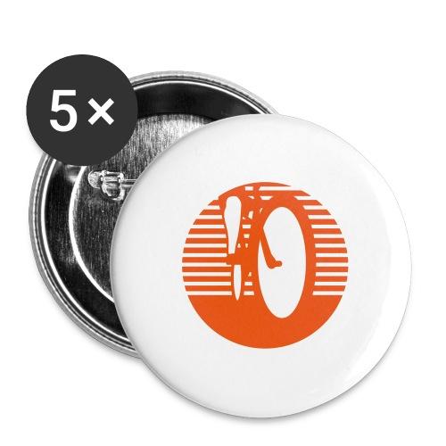 Radfahrer radfahren biken - Buttons groß 56 mm (5er Pack)
