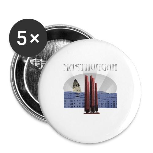 Masthuggah master, kyrka och terass - Stora knappar 56 mm (5-pack)