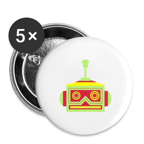 Robot head - Buttons large 2.2''/56 mm (5-pack)