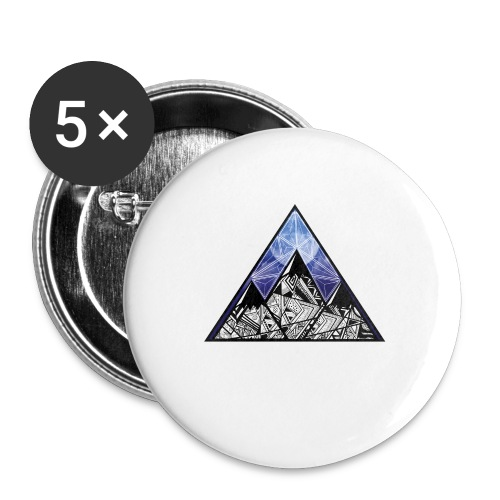 Grime Apparel Mountain Range Graphic Shirt. - Buttons large 2.2''/56 mm(5-pack)