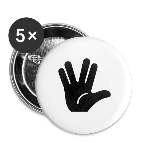 Live long and prosper - Lot de 5 grands badges (56 mm)