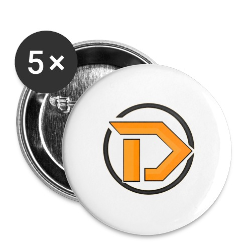 New Logo - Buttons large 2.2''/56 mm (5-pack)